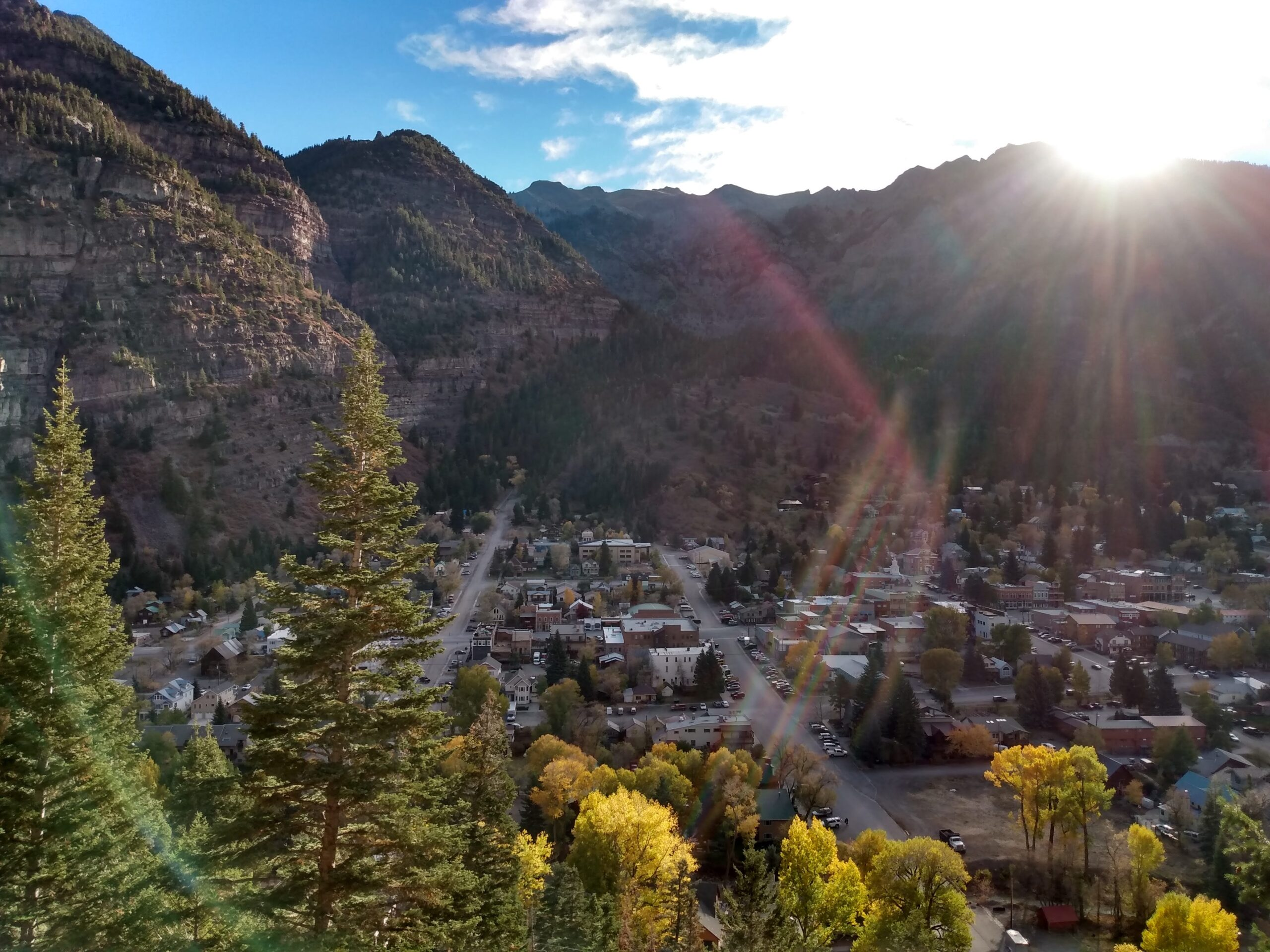 View of Ouray from the perimeter trail Sep 2020